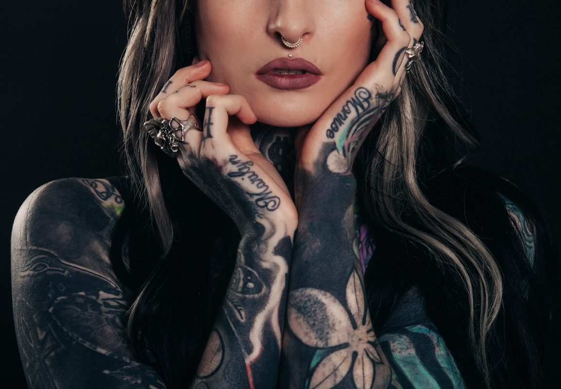Woman with tattoo's