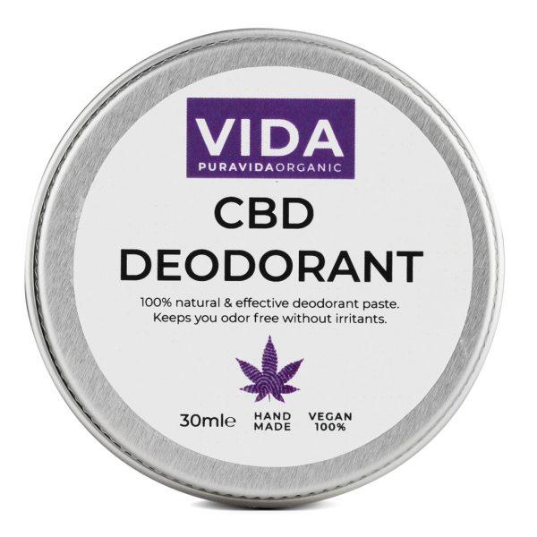 cbd deodorant pura vida organic