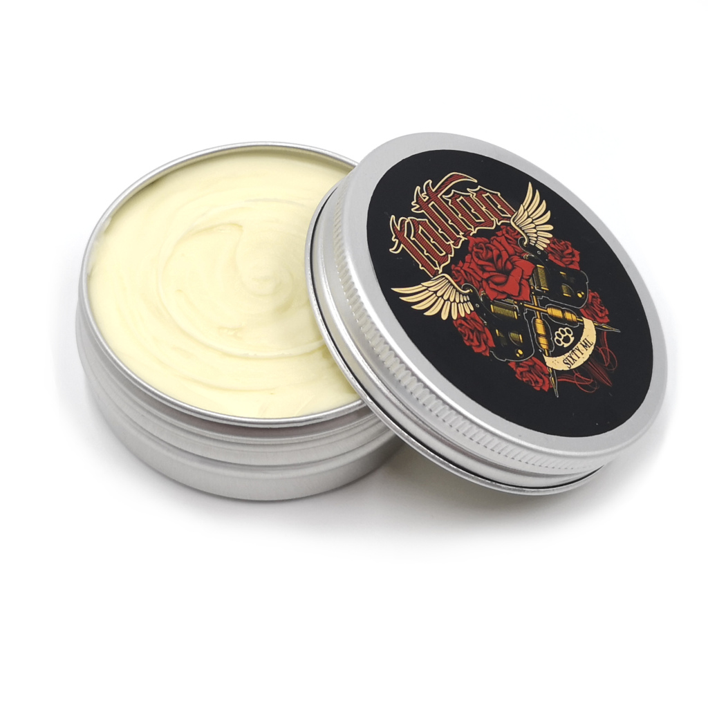 Pura vida organic tattoo butter side view