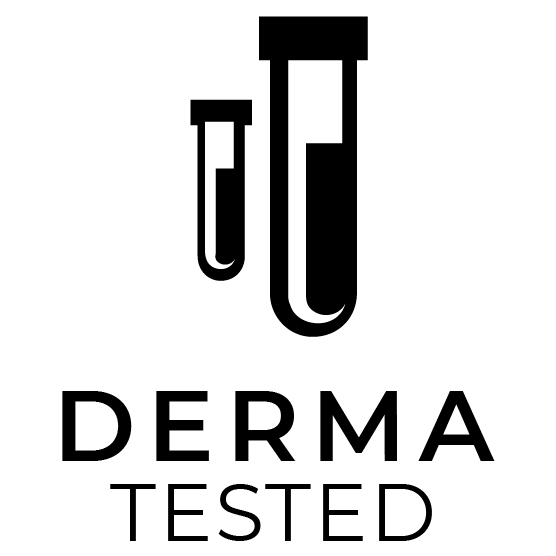 pura vida organic derma tested badge