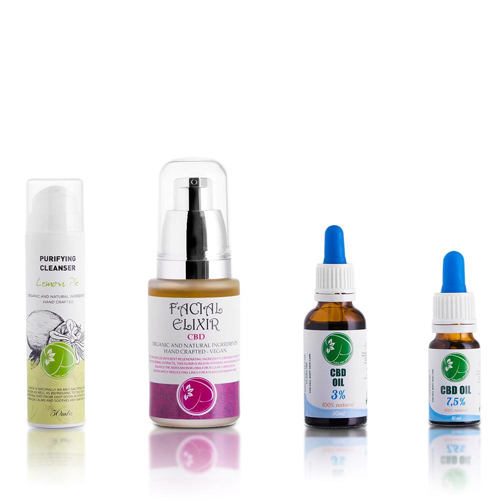 pura vida organic cbd skincare range