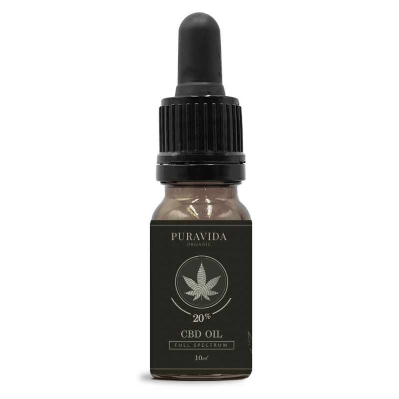 full spectrum CBD oil 20% pura vida organic