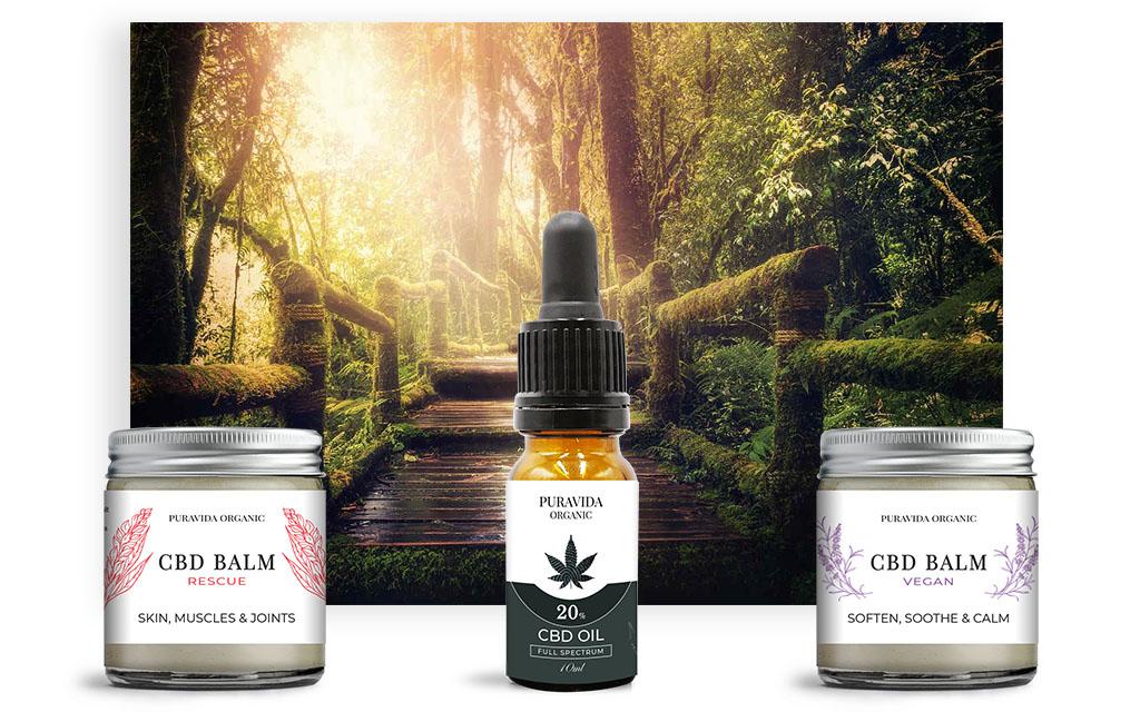 Pura Vida Organic CBD products