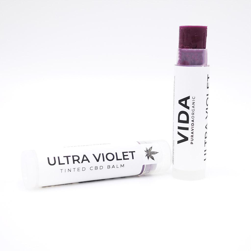 VIDA cbd lip balm ultra violet