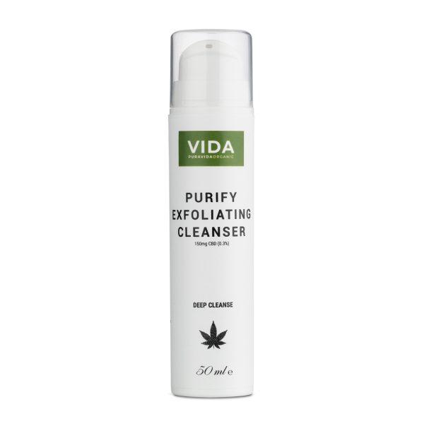 cbd exfoliating cleanser purifying pura vida organic